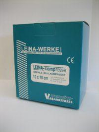 LEINACOMP Mullkompresse DIN 14079 10 x 10 cm, VE einzeln eingesiegelt steril